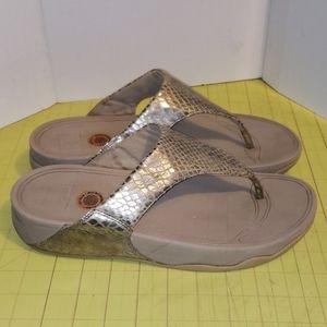Fit flop gold Sandals